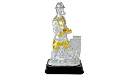 Feuerwehr-Figur aus hochwertigem Keramik