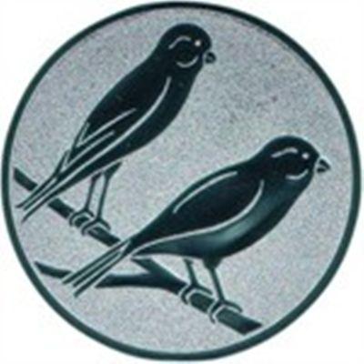 Embleme Kanarienvögel