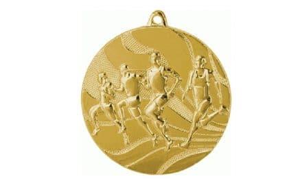 Läufermedaille Gold 50mm