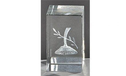 Kristallquader Eisstock 8cm x 5cm