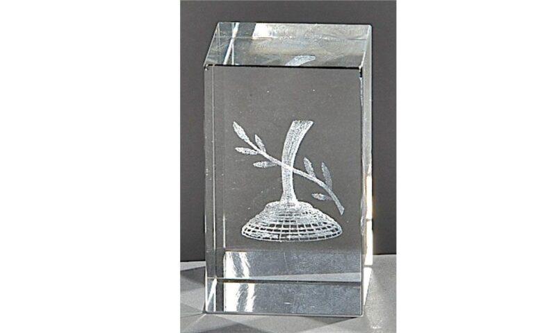 Kristallquader Eisstock 8x5cm