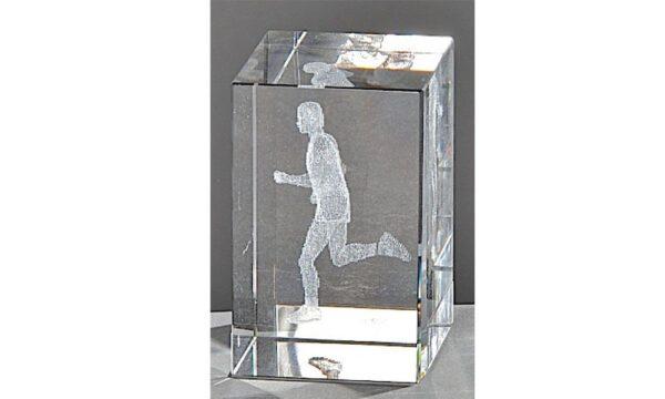 Kristallquader Läufer 8x5cm