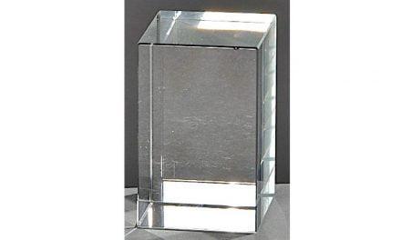 Kristallquader Neutral 8cm x 5cm