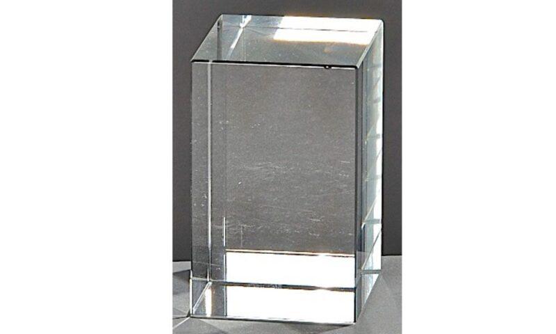 Kristallquader Neutral 8x5cm