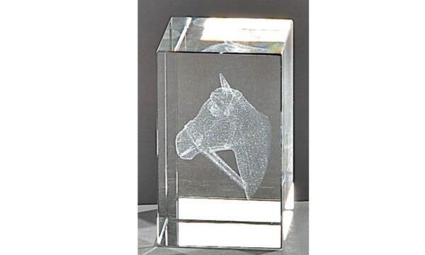 Kristallquader Pferd 8x5cm