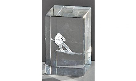 Kristallquader Ski-Alpin 8cm x 5cm