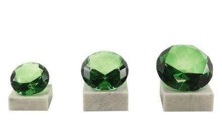 Glasdiamanten Wien 3er Serie 9cm-12cm