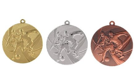 Fußballmedaillen Rom Gold, Silber, Bronze (Glanz) 50mm