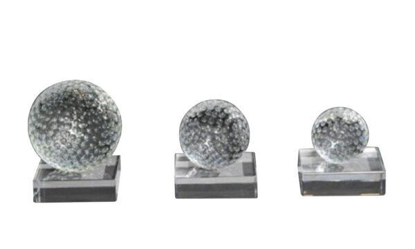 Golfballserie (Glas) auf Glassockel