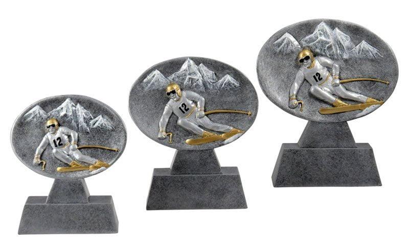 Skifahrertrophäen aus Steinguss - Pokale Kreisern