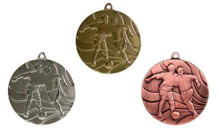 Fußballmedaillen Innsbruck Gold, Silber, Bronze (Glanz) 50mm