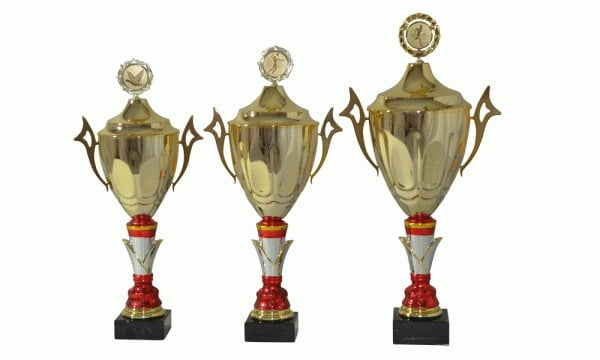 Henkelpokalserie Nürnberg gold mit Keramikfuß