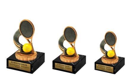 Tennispokale 10cm-12cm 3er Serie
