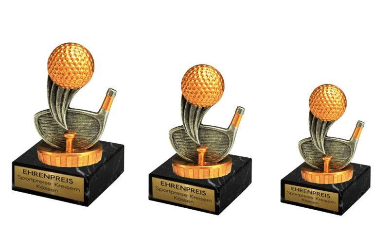 Golfpokale auf Sockel - Pokale Kreisern