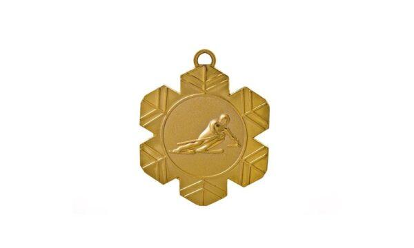 Skimedaille gold 50mm geprägt
