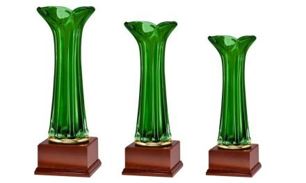 Glaspokale Oberösterreich 3er Serie 31cm-44cm
