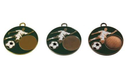 Fußballmedaillen Bayern Gold, Silber, Bronze (Glanz) 50mm