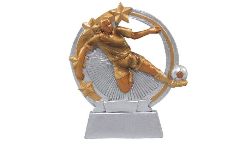 Aktionsfussballfigur aus Resin 11cm