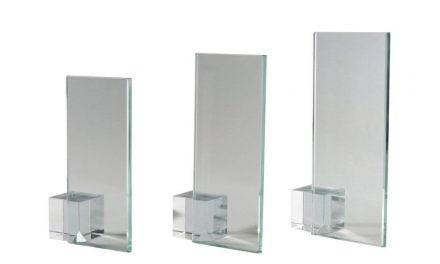 Glasständer Gmunden 3er Serie 15cm-19cm