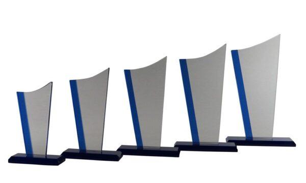 Glasständer Bremen mit blauen Spiegel