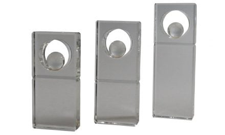 Glasständer m. Weltkugel 3er Serie 16cm-21cm