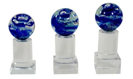 Glaskugeln Bochum 3er Serie 14cm-16cm