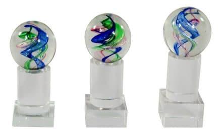 Glaskugeln Cham 3er Serie 14cm-16cm