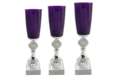 Glaspokale Leoben 3er Serie 32cm-35cm