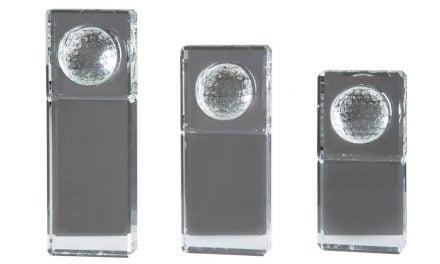 Glasständer m. Golfball 3er Serie 16cm-21cm