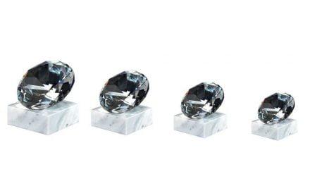 Glasdiamanten München 4er Serie 7,5cm-12cm