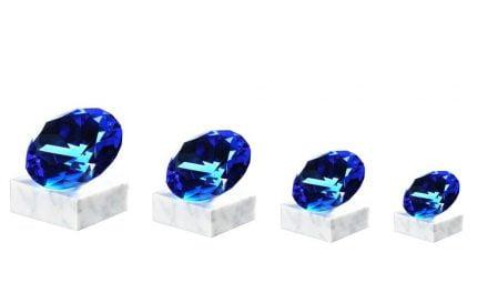 Glasdiamanten Tirol 4er Serie 7,5cm-12cm
