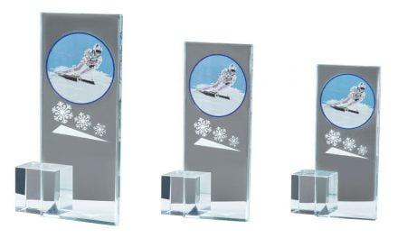 Glasständer mit Fotodruck Ski 3er Serie 15cm-19cm