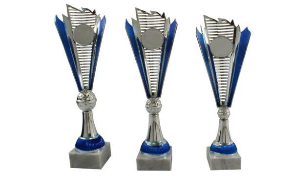 Designpokalserie Dornbirn silber blau - Pokale Kreisern - Ihr Spezialist für Sportpreise