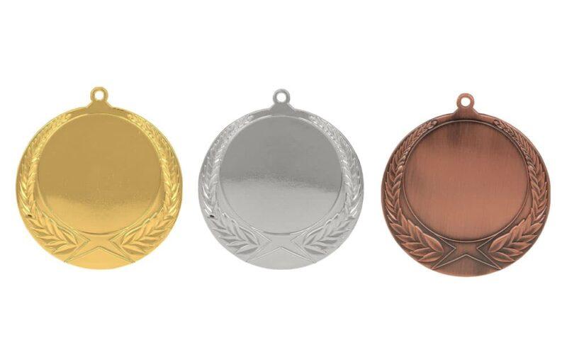 Medaillen Klagenfurt Gold, Silber, Bronze (Glanz) 70mm