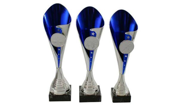 Pokale Dornbirn silber blau - Pokale Kreisern - Ihr Spezialist für Sportpreise