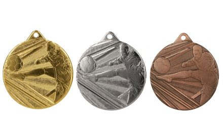 Fußballmedaillen London Gold, Silber, Bronze (Glanz) 50mm
