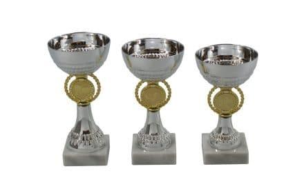 Metallpokale Starnberg 3er Serie 15cm-17cm