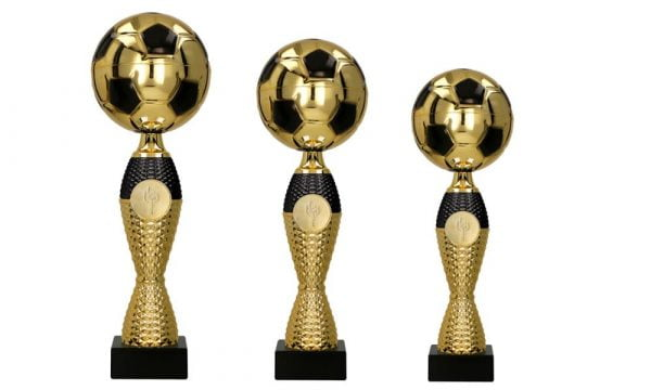 Fussballpokale schwarz - gold